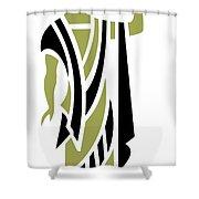 Greek Man In Olive Shower Curtain