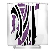 Greek Man In Purple Shower Curtain