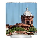 Greek Orthodox College Dome Shower Curtain