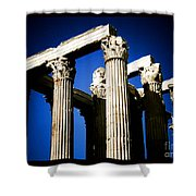Greek Pillars Shower Curtain
