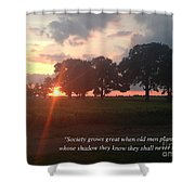 Greek Proverb Shower Curtain