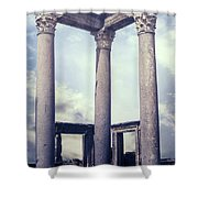 Greek Temple Shower Curtain