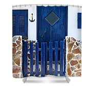 Greek Traditional House Shower Curtain