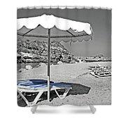 Greek Umbrella Shower Curtain