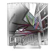 Greektown Detroit Shower Curtain