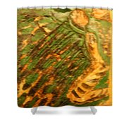 Green - Tile Shower Curtain