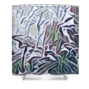 Green 2  Shower Curtain