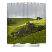 Green 3 Shower Curtain