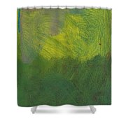 Green Abstract 1 Shower Curtain