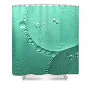 Green Abstract Of Oil Droplet.  Shower Curtain