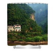 Green Along The Yangtze Shower Curtain