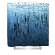 Green And Blue Serenity - Smooth Wetland Morning Shower Curtain