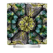 Green And Blue Stones 2 Shower Curtain