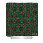 Green And Brown Chunky Cross Mirror Pattern Shower Curtain