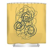 Green And Gold 2 Shower Curtain