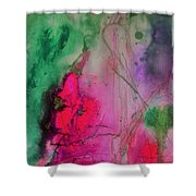 Green And Pink Shower Curtain