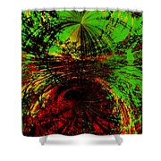 Green And Red Shower Curtain