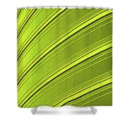 Green And Yellow Building Abstract Shower Curtain