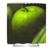 Green Apple Drama Shower Curtain