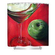 Green Apple Martini Shower Curtain by Torrie Smiley