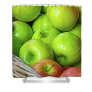 Green Apples Shower Curtain