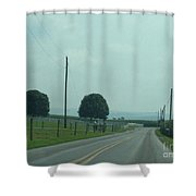 Green August Countryside Days Shower Curtain