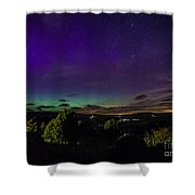Green Aurora Curtain Shower Curtain