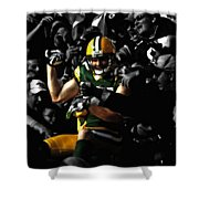 Jordy Nelson Lambeau Leap Shower Curtain