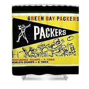 Green Bay Packers 1959 Pennant Shower Curtain