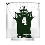Green Bay Packers Bret Favre 3 Shower Curtain