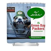 Green Bay Packers Shower Curtain by Kathy Tarochione