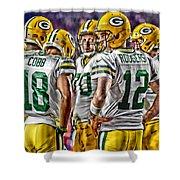 Green Bay Packers Team Art 2 Shower Curtain