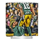 Green Bay Packers Team Art Shower Curtain