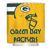 Green Bay Packers Team Vintage Art Shower Curtain
