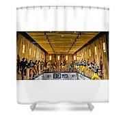 Green Bay Packers Uniforms Then And Now Shower Curtain