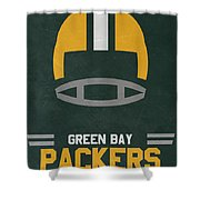 Green Bay Packers Vintage Art Shower Curtain
