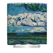 Green Beach Shower Curtain