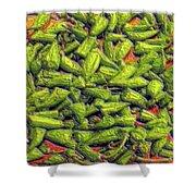 Green Bean Tips Shower Curtain
