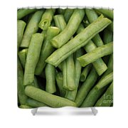 Green Beans Close-up Shower Curtain