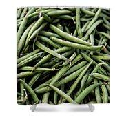 Green Beans Shower Curtain