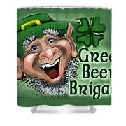 Green Beer Brigade Shower Curtain