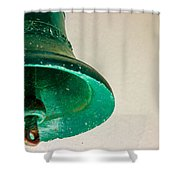 Green Bell Shower Curtain by Fabio Giannini