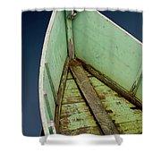 Green Boat Shower Curtain