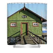 Green Boathouse Shower Curtain