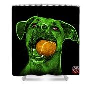 Green Boxer Mix Dog Art - 8173 - Bb Shower Curtain