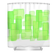 Green Boxes  Shower Curtain