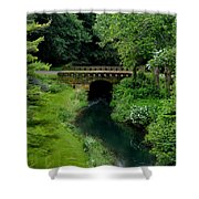 Green Bridge Shower Curtain
