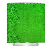 Green Bubbles 2 Shower Curtain