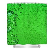 Green Bubbles Shower Curtain