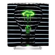 Green Bulb Shower Curtain